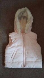 12-18 month girls pink gillet