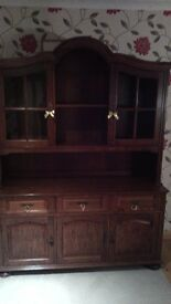 Solid Oak Sideboard/Display Unit Dresser