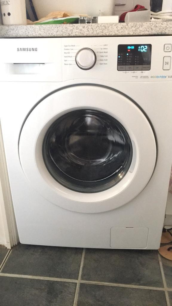 Samsung 8kg washing machine must go by Sunday evening (24th June) priced to sellin Newcastle, Tyne and Wear - 2 years old. Only Selling due to getting an in built appliance. Excellent condition apart from slight wear to writing as shown