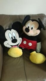 Giant micky mouse teddy and cushion
