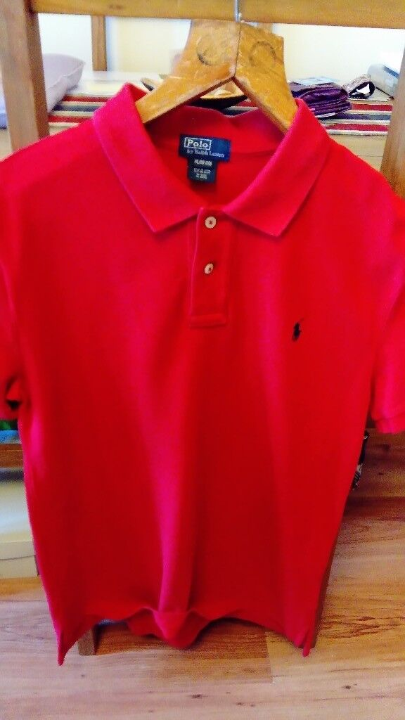 3de453792 Ralph Lauren XL Boys Red Polo Shirt £15