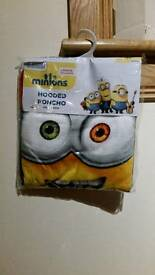 Minion hooded poncho towel
