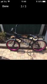 We the People BMX Only £100 Great Xmas present as it's like new !