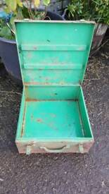 Metal toolbox can be painted and made brand new again