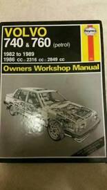 Volvo 740 & 760 petrol Haynes manual