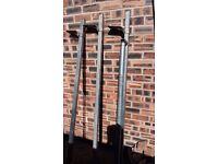 Van roof bars and ladder roller
