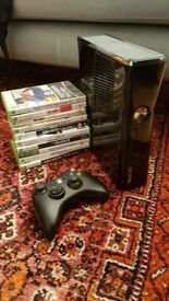 Xbox 360s 250gb hd. Controller and 10 games