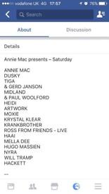 4xtickets for The Warehouse Project//Annie Mac Presents Pt2