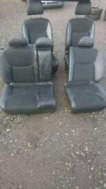 Honda seats half leather