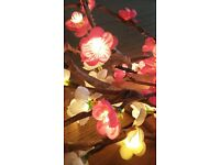 2 bunches of decorative rose flower fairy lights