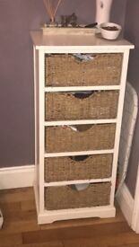 Chest Of 5 wicker drawers.