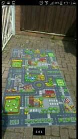 Large road play rug