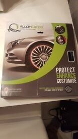 Alloygators. Alloy wheel protectors fit 13inch to21inch.black in colour brand new never opened