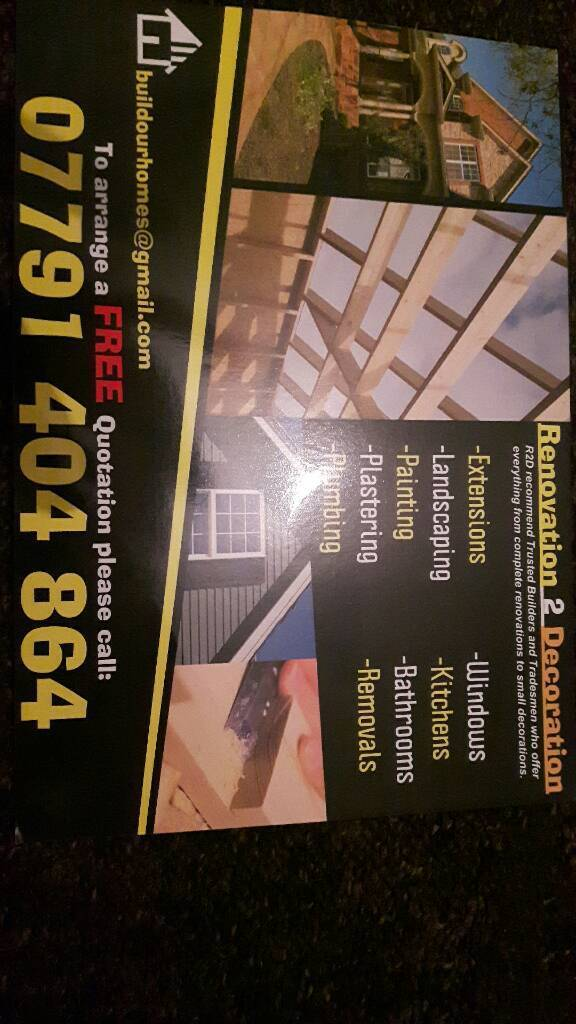 Painter and decorator. Professional service and finish promised.