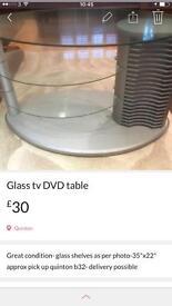 Glass tv - DVD- stand