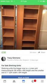 For Sale 2 shelving units