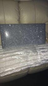 Brand New Silver Sparkle Pelmet