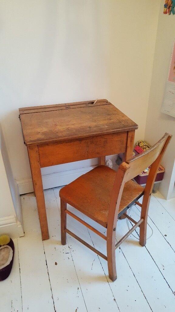 Original Vintage Childs School Desk Chair
