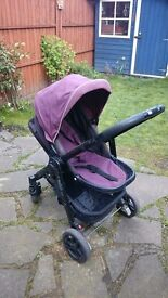 Graco Evo Aubergine with Lascal Buggy Board