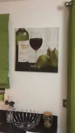 Picture wine and pears