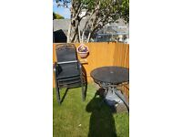 metal garden patio set