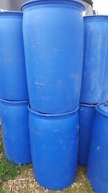 water or fuel drums