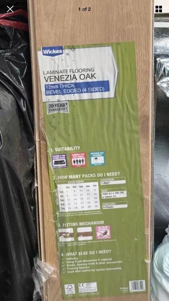Wickes Venezia Oak Laminate Flooring And Foil Backed Underlay In