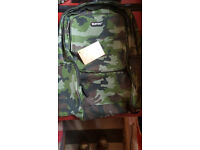 Boys School Bag Backpack Mens Camouflage Rucksack Sport Gym Travel Camo *NEW* with label