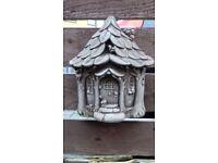 Stone fairy house plaque