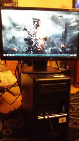 pc tower intel core i3 cpu3.30ghz+monitor 20""