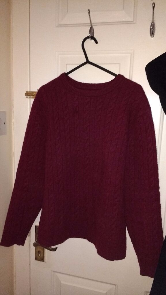 dark red cable jumper size 12