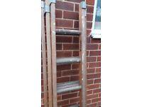 Heavy Duty Vintage Wooden Extension Ladders