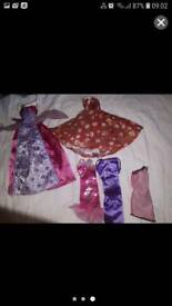 Long dresses barbie braz clothing bundle see pictures