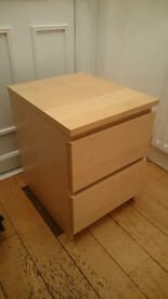 Ikea Malm Pine Effect Bedside Table