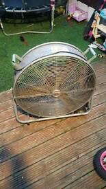 Big fan on wheels