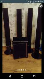 LG surround sound system speakers only