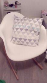 Eames imitation rocking chair (white)