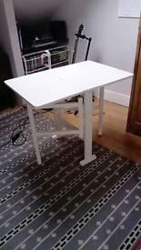IKEA WHITE DROP LEAF TABLE