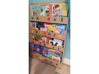 Wooden children's bookcase