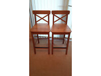 IKEA BREAKFAST BAR STOOLS, in excellent condition (a pair for £40)