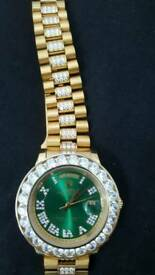 Rolex Day-Date President Diamond Iced Out watch