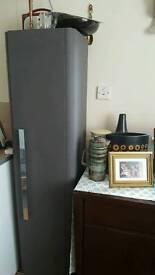Grey linen effect bathroom cabinet