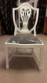 A Vintage Shabby Chic Dining/Bedroom/Dressing Table Chair