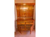 Large pine dresser. Old, solid.