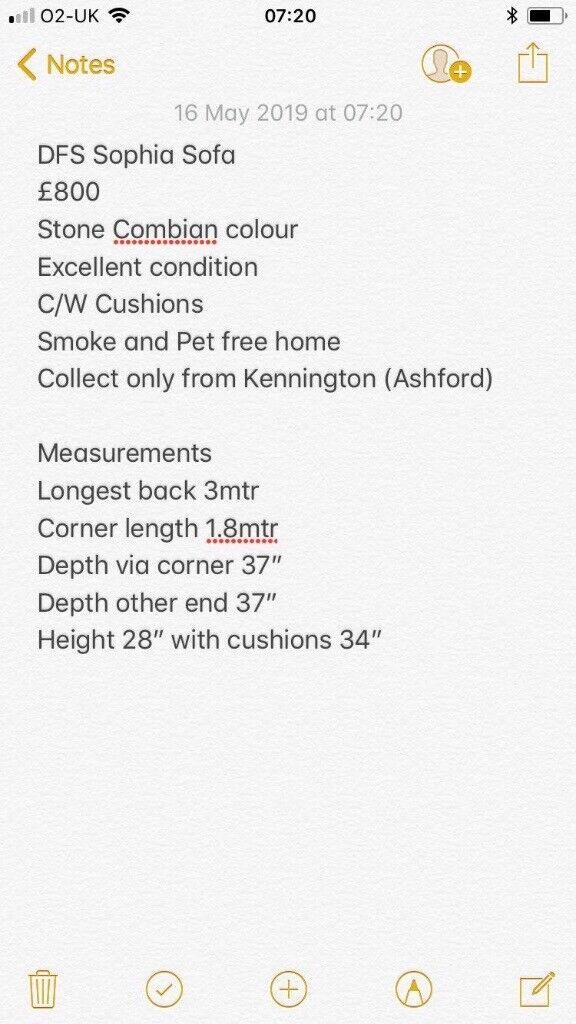 DFS Fabric Corner Sofa | in Kennington, Kent | Gumtree