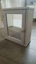 Shabby chic style small bathroom cabinet