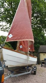 Drascombe Lugger with trailer and outboard