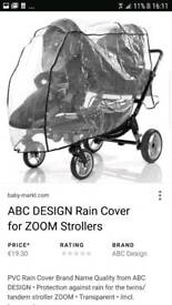 Double push chair and carry cot