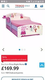 Junior peppa pig solid wood bed with storage