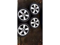 Genuine Manufacturer Audi TT MK2 17 inch alloys with tyres (All 4)